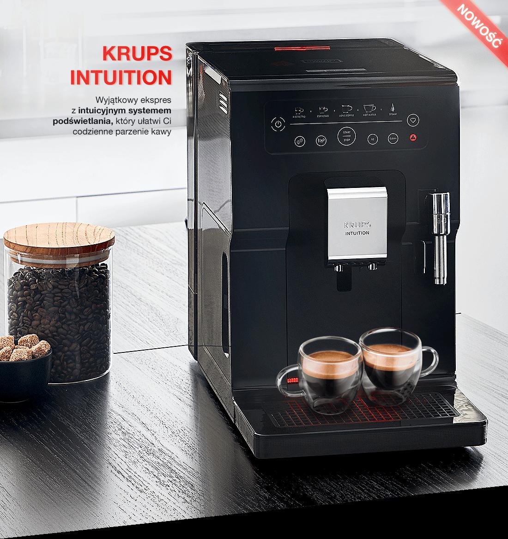 Krups Intuition - Wyjątkowy ekspres z intuicyjnym systemem podświetlania, który ułatwi Ci codzienne parzenie kawy